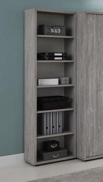 Made in Belgium Bibliothèque contemporaine 6 niches chêne gris Lily