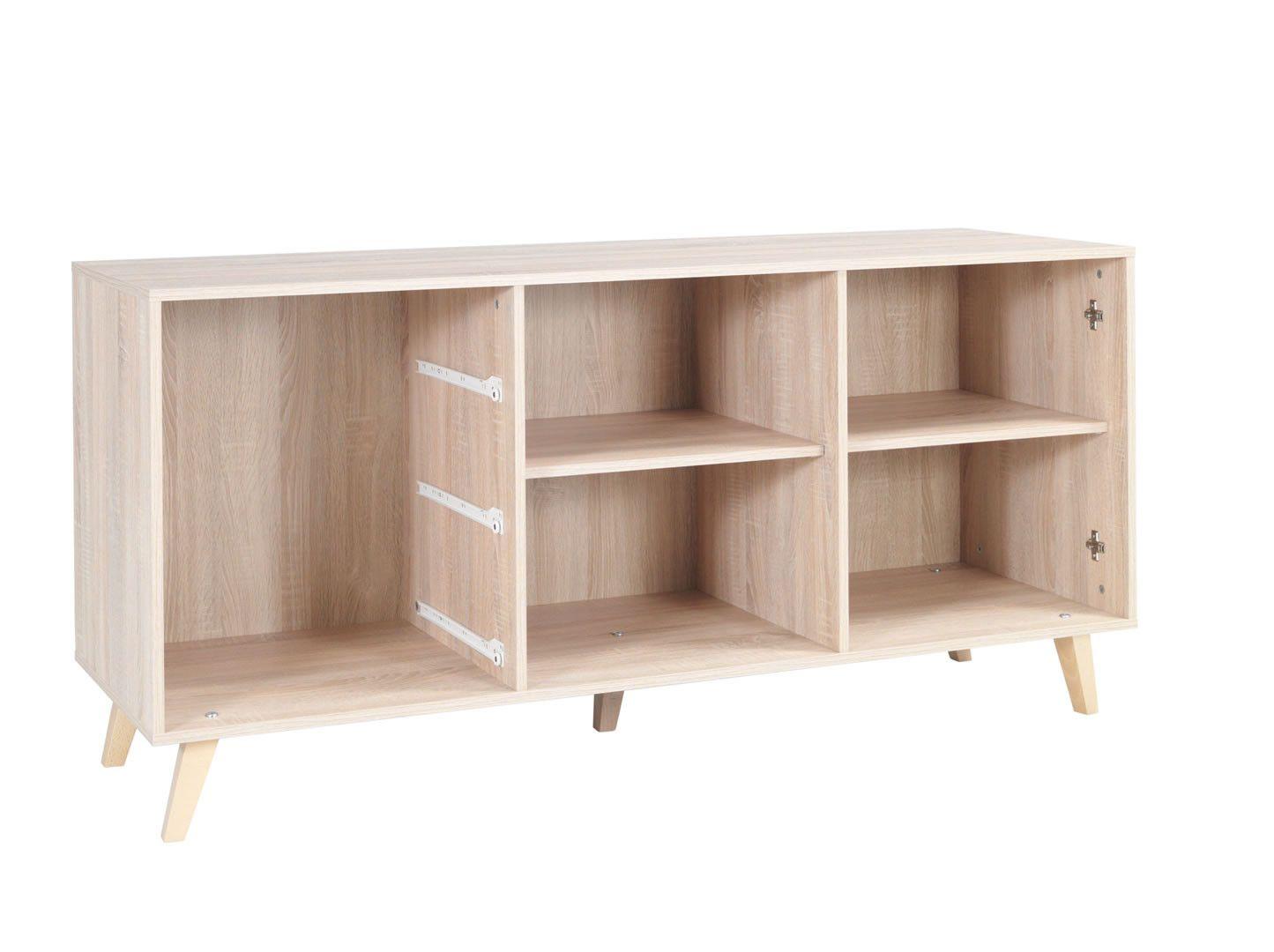 buffets contemporains buffet 2 portes 3 tiroirs lisieux ch ne sonoma blanc trocity. Black Bedroom Furniture Sets. Home Design Ideas