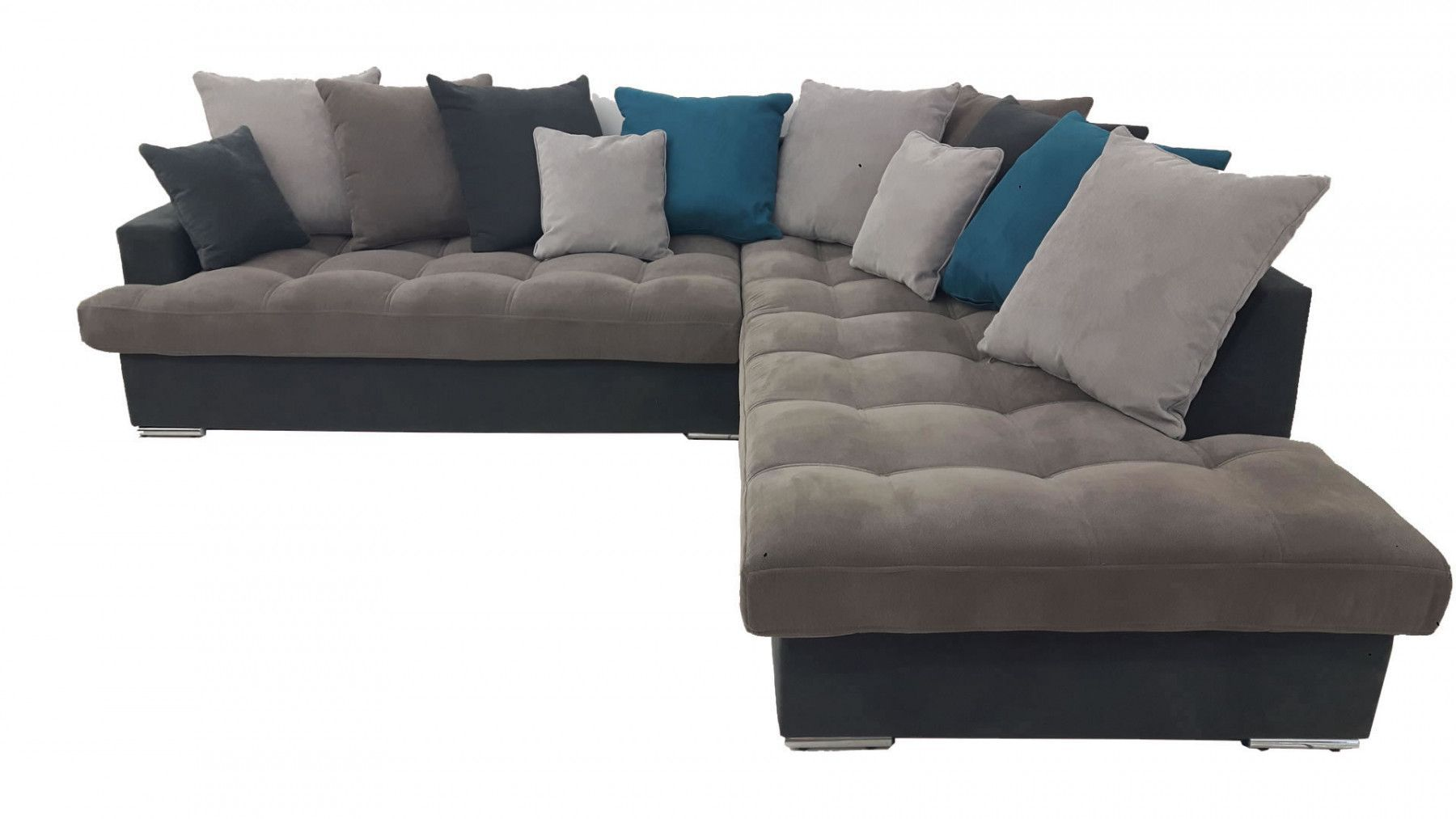 canap s d 39 angle canap d 39 angle droite linda gris et bleu. Black Bedroom Furniture Sets. Home Design Ideas