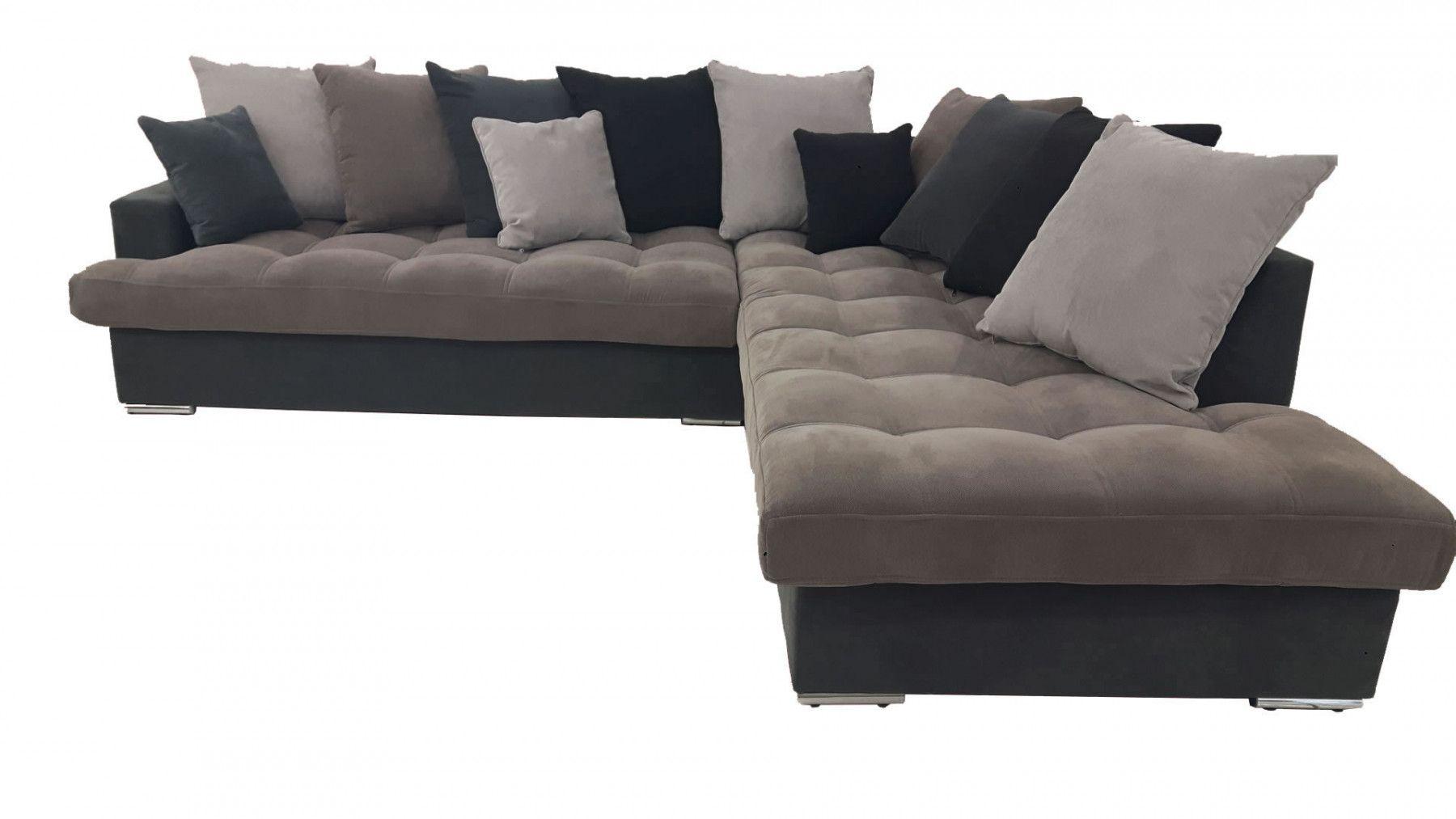 Canap d 39 angle droit linda gris et noir for Canape pour sejour