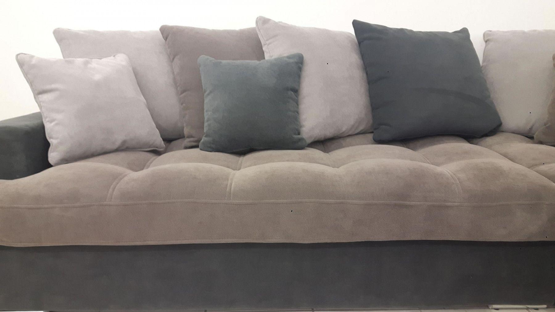 Salon Gris Clair Et Gris Fonce : Canapé d angle droit linda gris clair et foncé