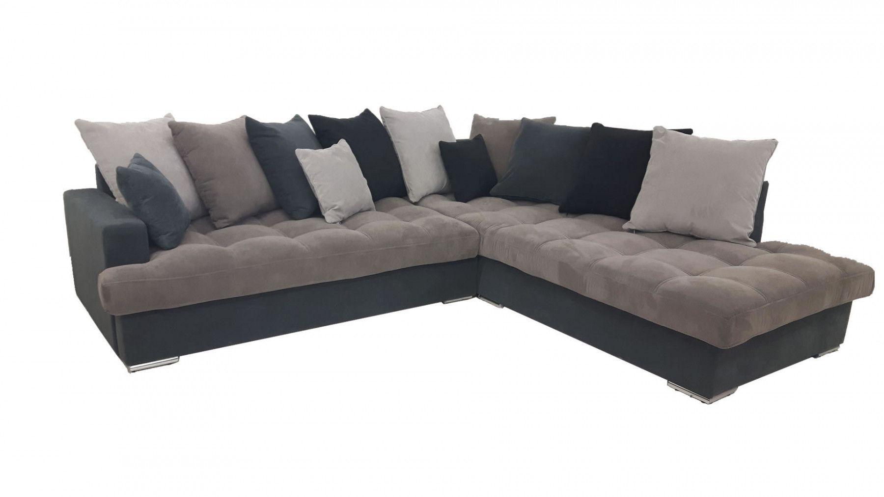 Canap d 39 angle droit linda gris et noir canap s sofas for Transport canape