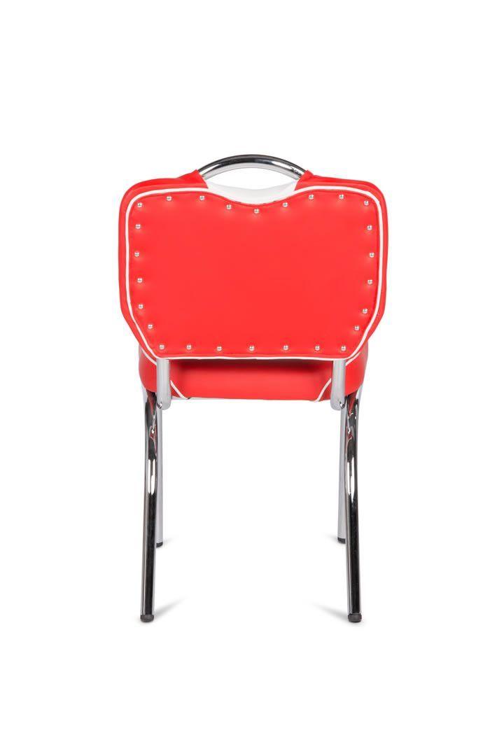 Chaise de bistrot retro rouge et blanc for Bureau rouge et blanc