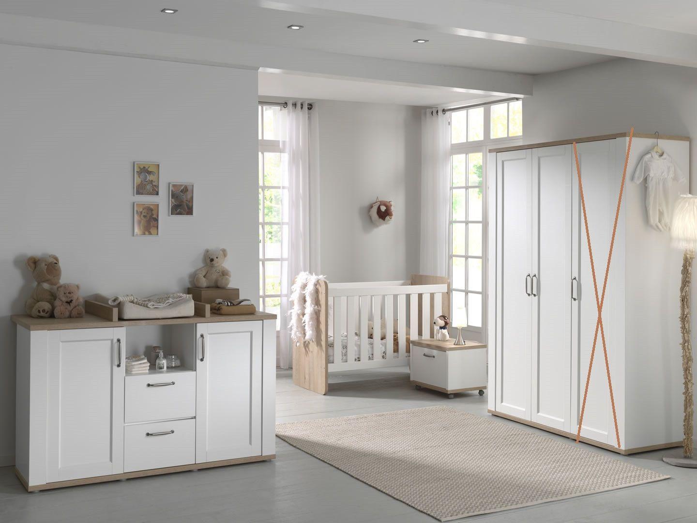 Chambre bébé complète design scandinave armoire 2 portes Sedan