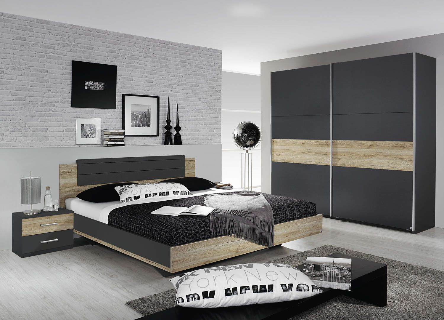 Chambres compl te adulte chambre compl te adulte armoire - Chambre a coucher adulte complete ...