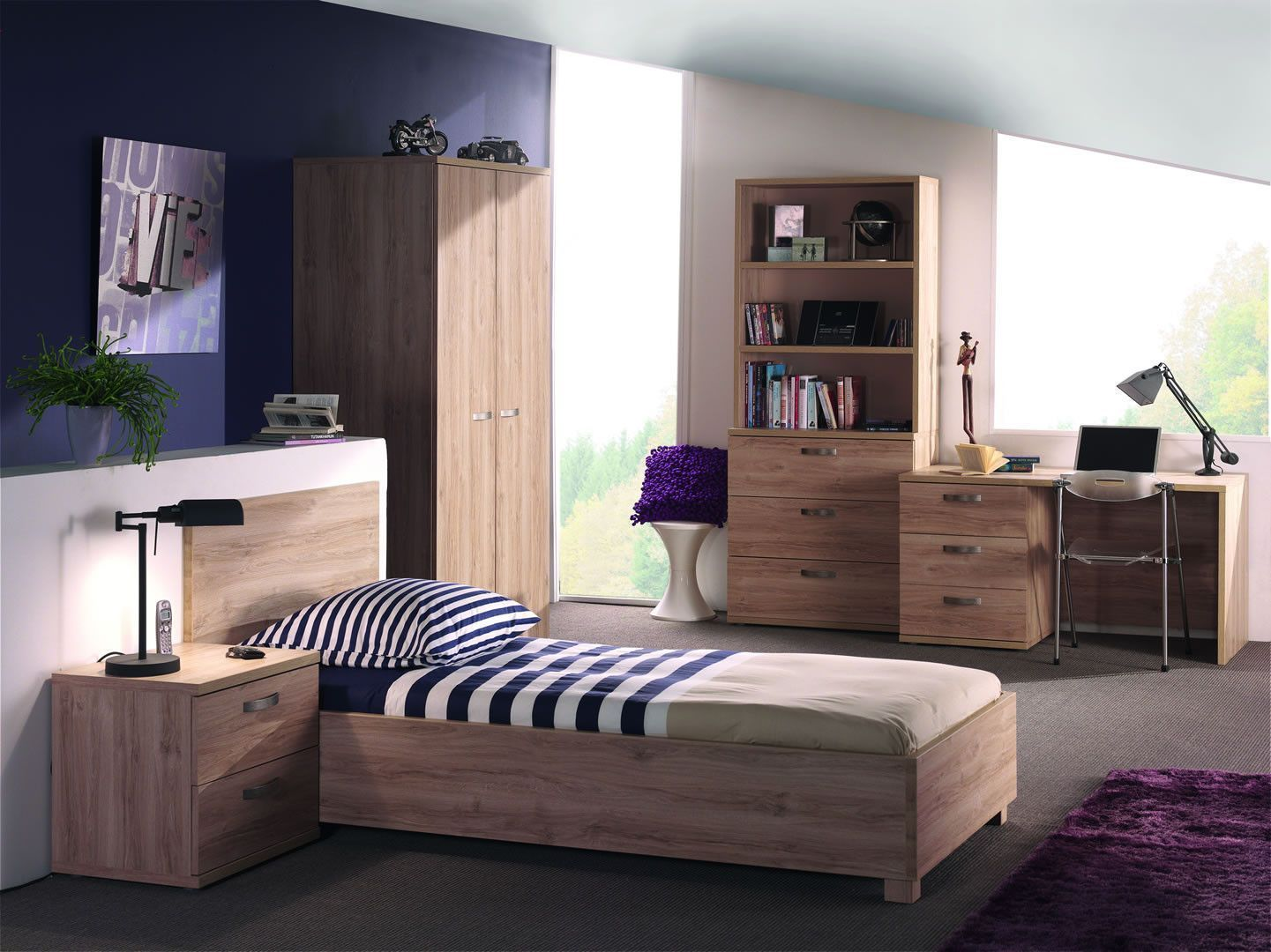 Chambres enfant complète - Chambre à coucher complète enfant coloris ...