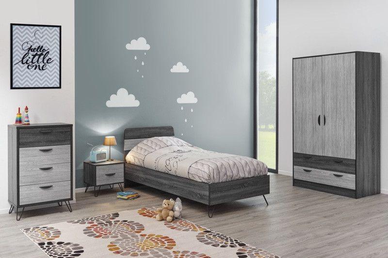 Made in Belgium Chambre à coucher pour enfant compléte style industriel July