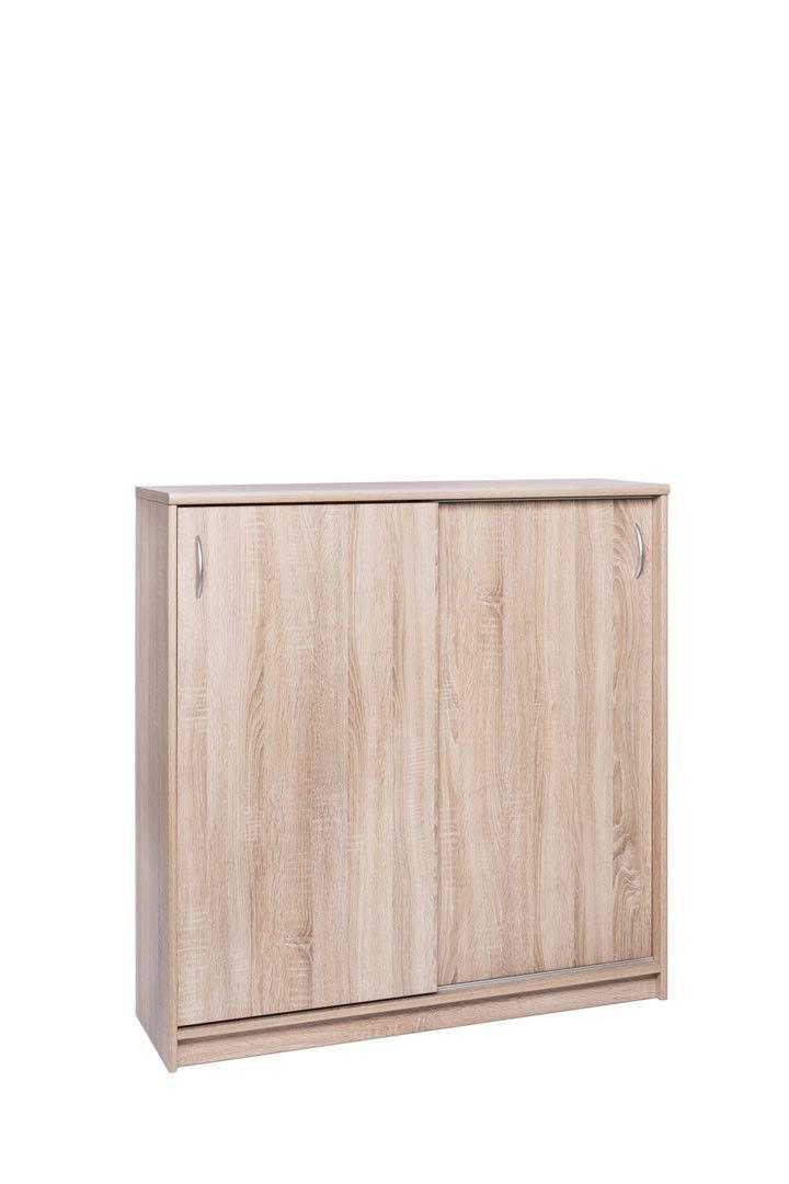 meubles de rangement commode portes coulissantes 109 cm irma ch ne trocity. Black Bedroom Furniture Sets. Home Design Ideas