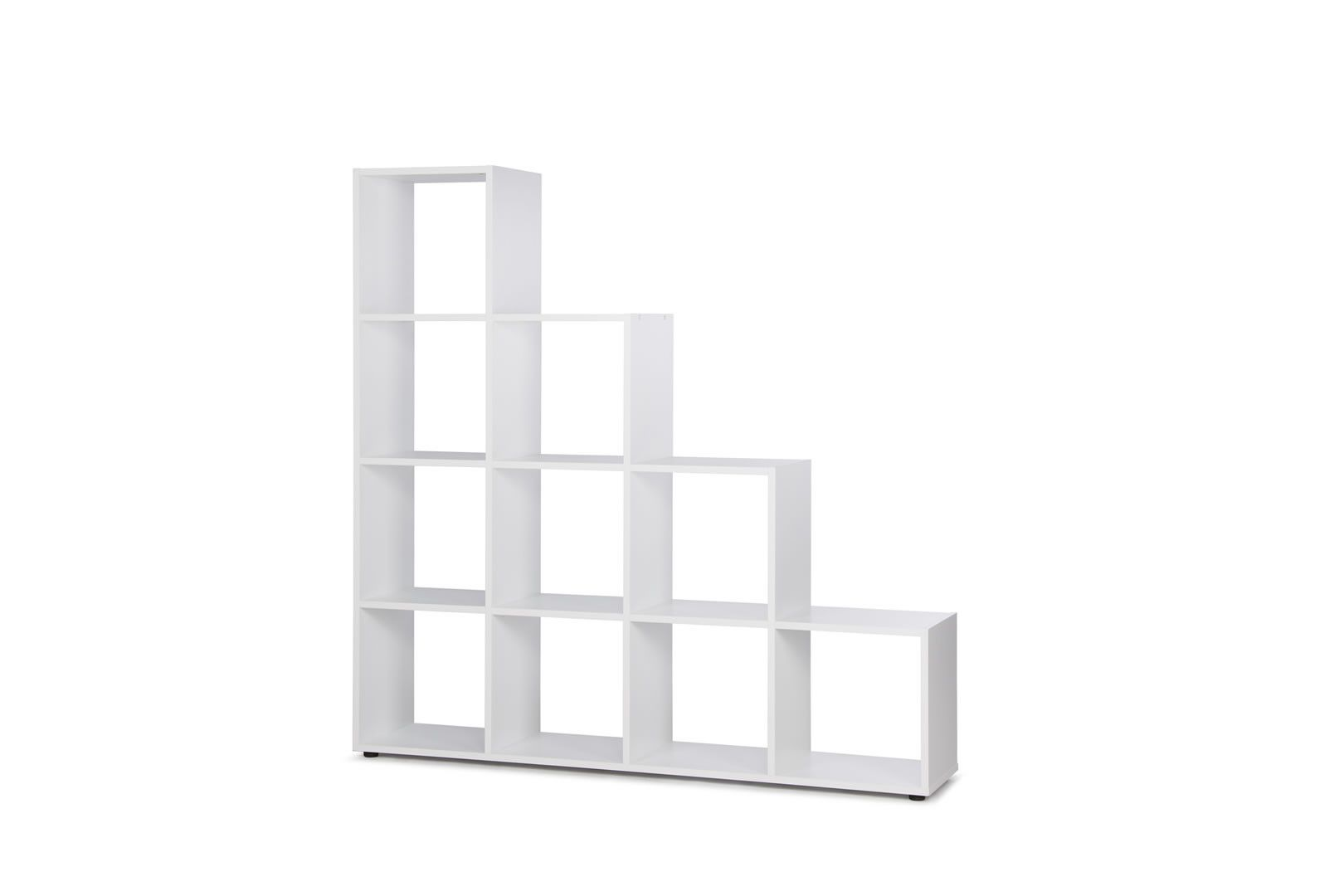 etag res murales etag re murale en escaliers 10 casiers bonkers blanc trocity. Black Bedroom Furniture Sets. Home Design Ideas