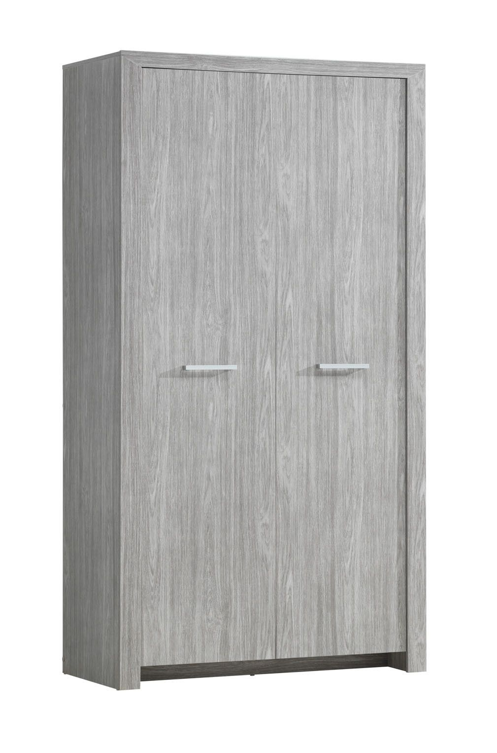 armoire penderie 2 portes ch ne gris sonora. Black Bedroom Furniture Sets. Home Design Ideas