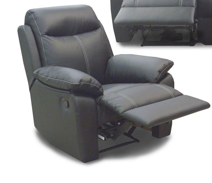 en soldes e5128 87a92 Fauteuil de relaxation électrique Yvon noir