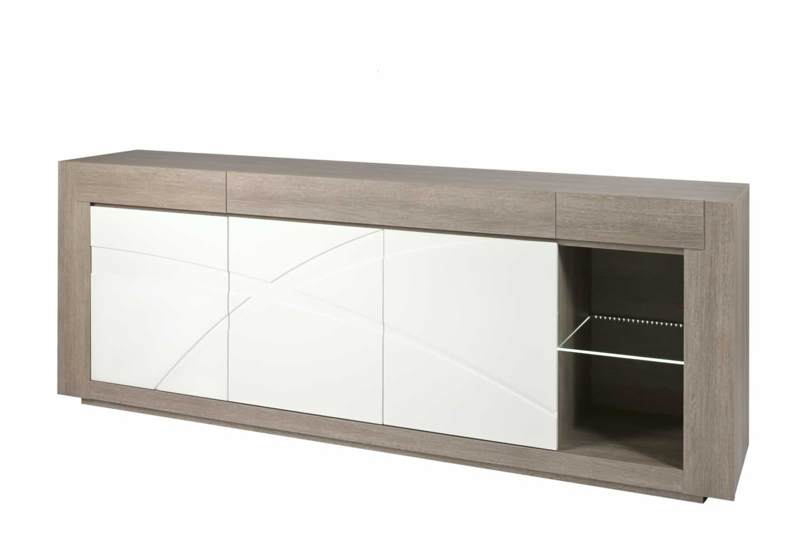 buffets contemporains buffet bahut 250 cm avec clairage chaumont trocity. Black Bedroom Furniture Sets. Home Design Ideas