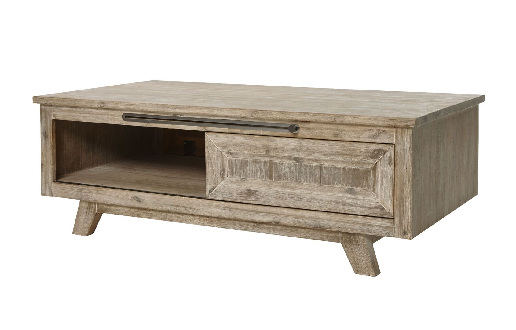 Charmant ... Table Basse Bois Massif Style Rustique Chic Krabi. Soldes.   65%. Zoom