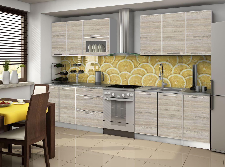 meuble d 39 angle haut de cuisine ouvert 1 tag re sonoma dax. Black Bedroom Furniture Sets. Home Design Ideas