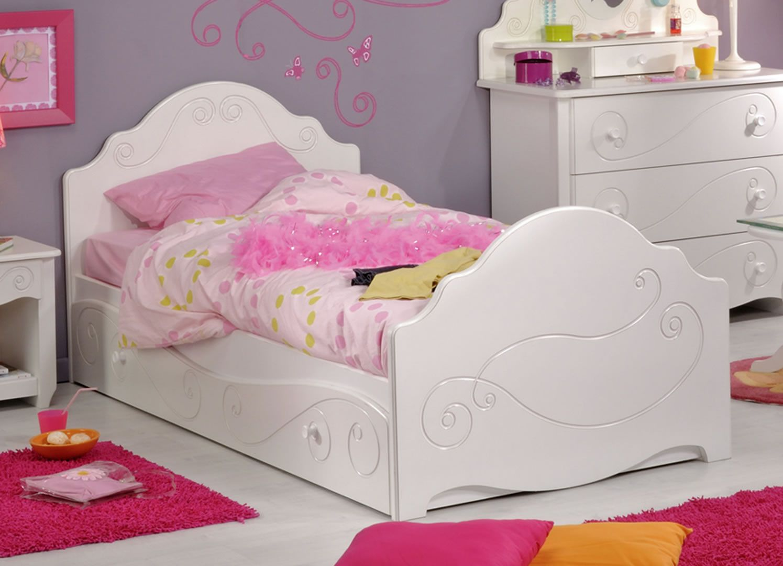 lits enfants lit 90 x 190 cm aur ane blanc meg ve trocity. Black Bedroom Furniture Sets. Home Design Ideas