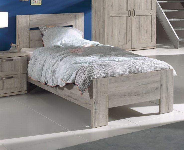 lits enfants lit enfant 1 place 90 x 200 cm gris grade. Black Bedroom Furniture Sets. Home Design Ideas