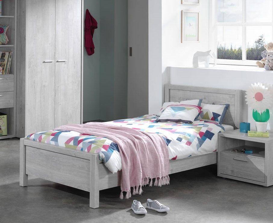 lits enfants lit enfant 90 x 200 cm avec t te de lit. Black Bedroom Furniture Sets. Home Design Ideas