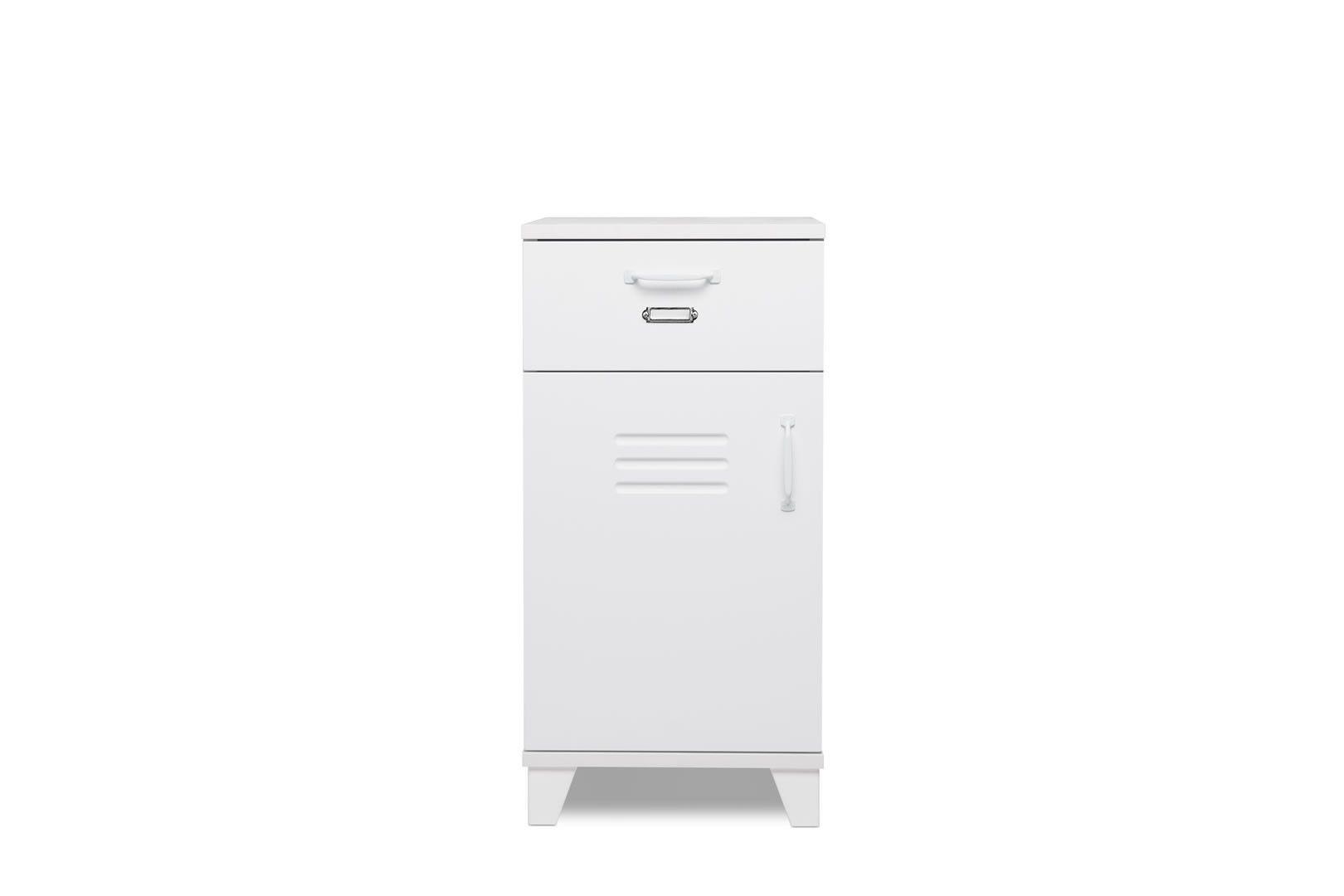 Meuble de rangement 1 porte 1 tiroir gepetto meubles de for Meuble rangement bureau tiroir