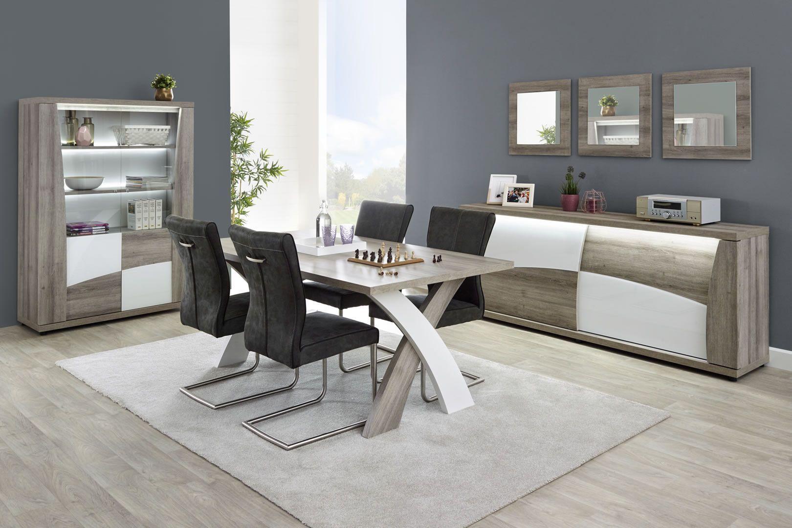 salle manger avec clairage led kristen. Black Bedroom Furniture Sets. Home Design Ideas