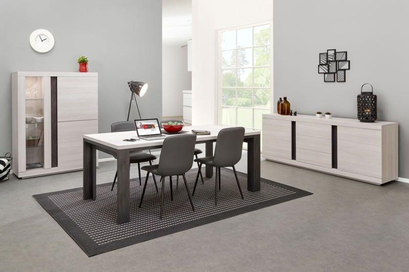 salle manger design salle manger avec clairage led buffet vaisselier table jordan ch ne. Black Bedroom Furniture Sets. Home Design Ideas