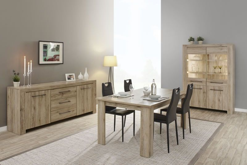 salle manger contemporaine salle manger style contemporain bois clair ella trocity. Black Bedroom Furniture Sets. Home Design Ideas