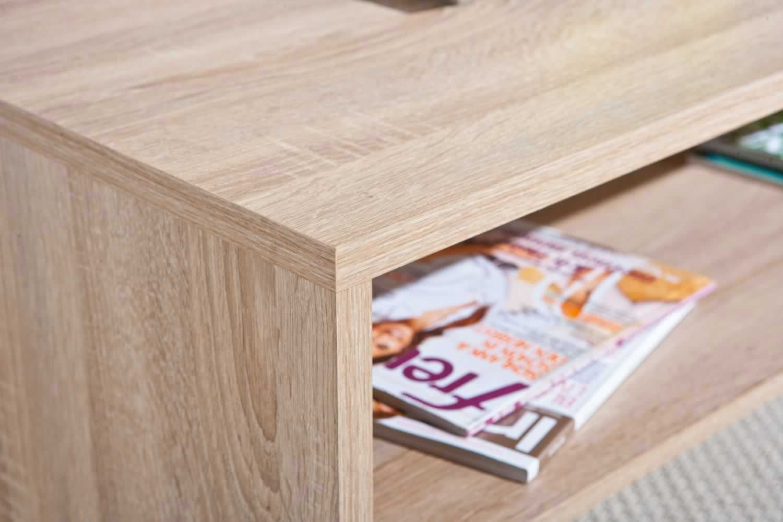 tables basses table basse absolu ch ne sonoma trocity. Black Bedroom Furniture Sets. Home Design Ideas