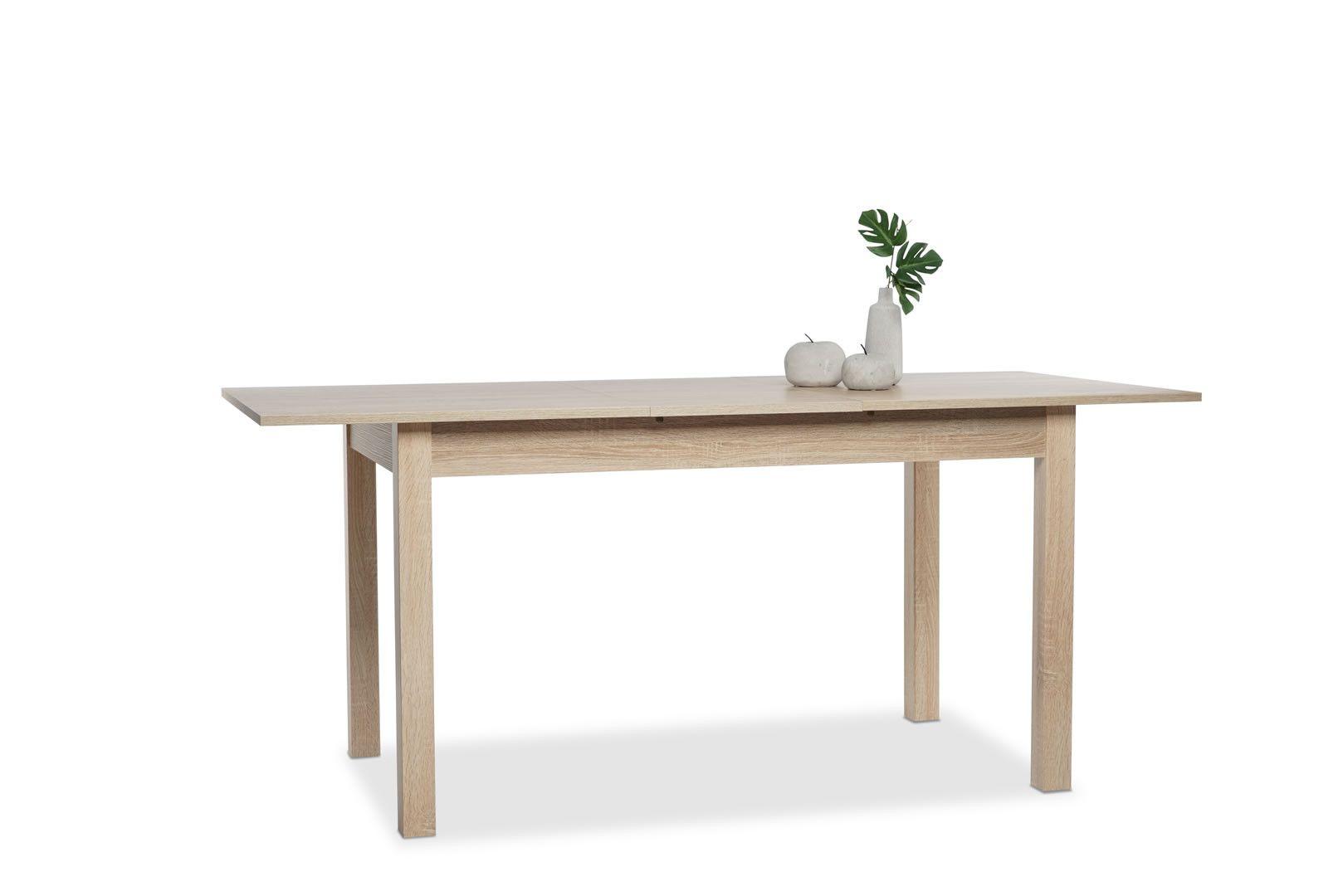 table manger avec allonge 137 177 cm jiminy ch ne clair. Black Bedroom Furniture Sets. Home Design Ideas
