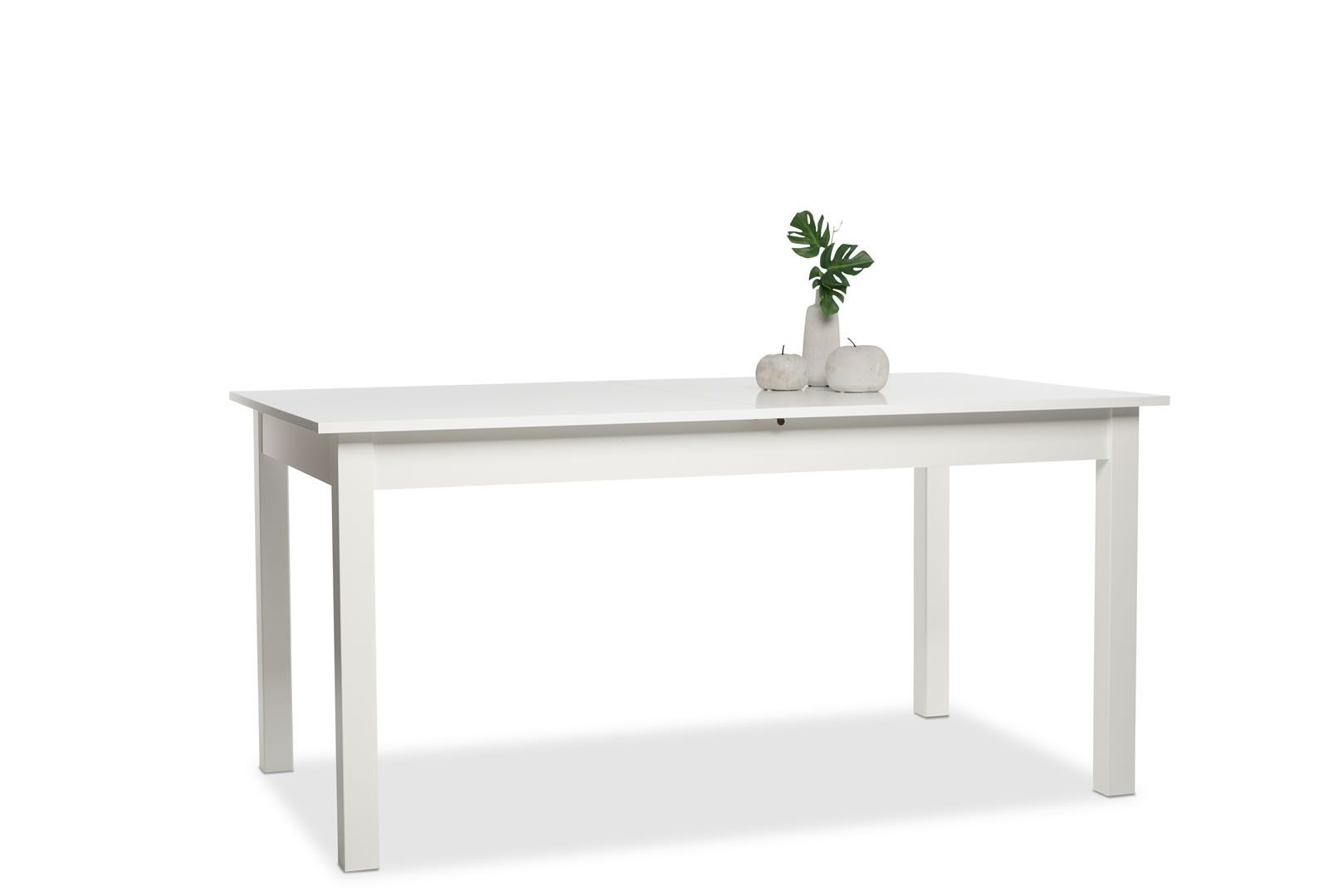 Table manger avec allonges 160 200 cm jiminy blanc for Table a manger 160 cm avec rallonge