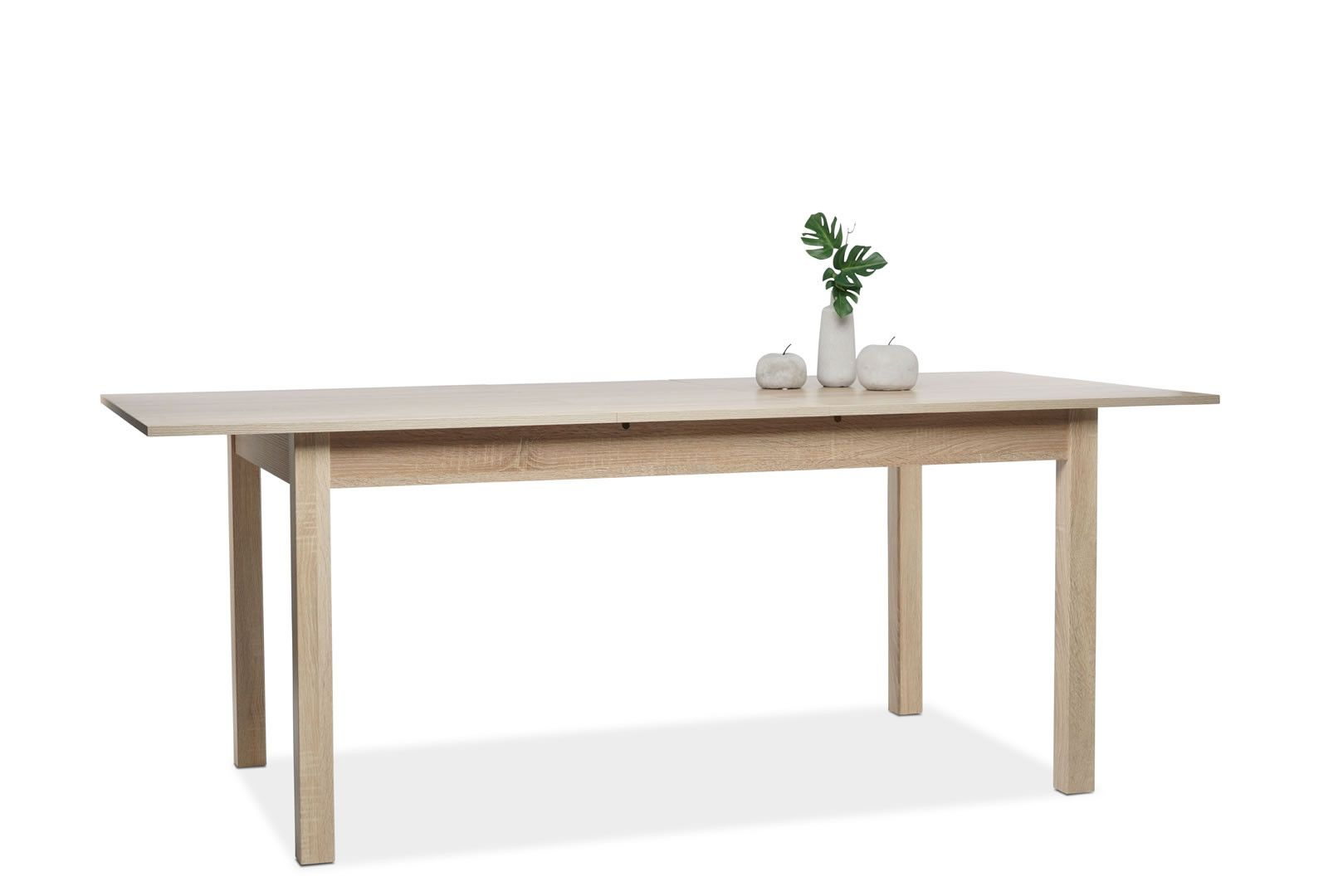 Table manger avec allonge 160 200 cm jiminy ch ne clair for Table 160 cm avec rallonge