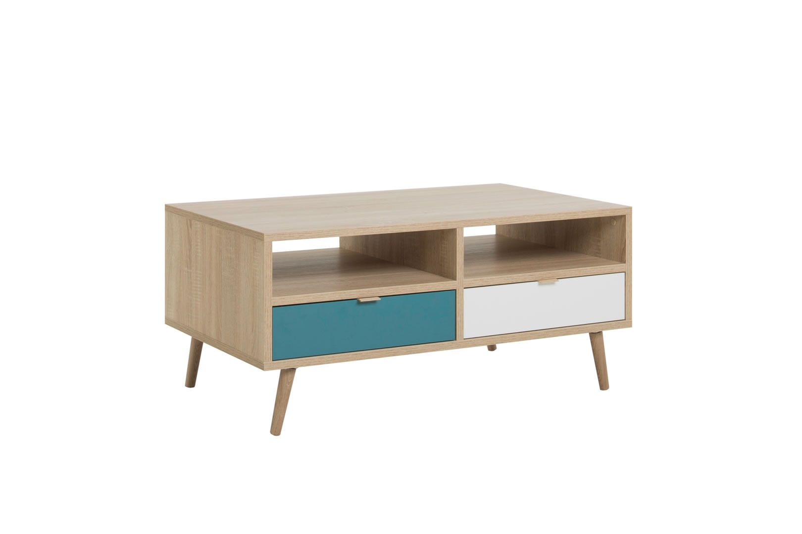 table basse 2 tiroirs anave style scandinave
