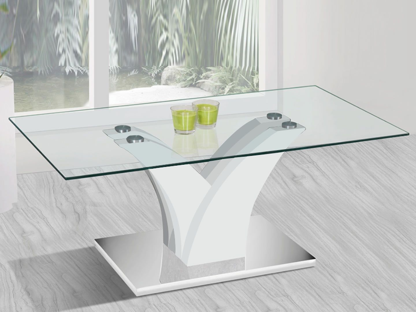 Tables Basses Table Basse Rectangulaire Design En Verre Verga