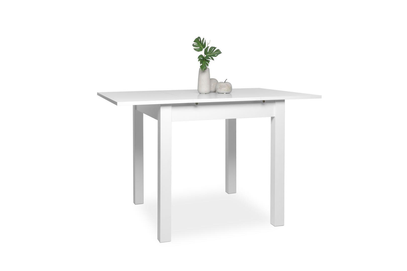 Tables de cuisine table carr e avec allonge 80 120 cm - Petite table de cuisine ...