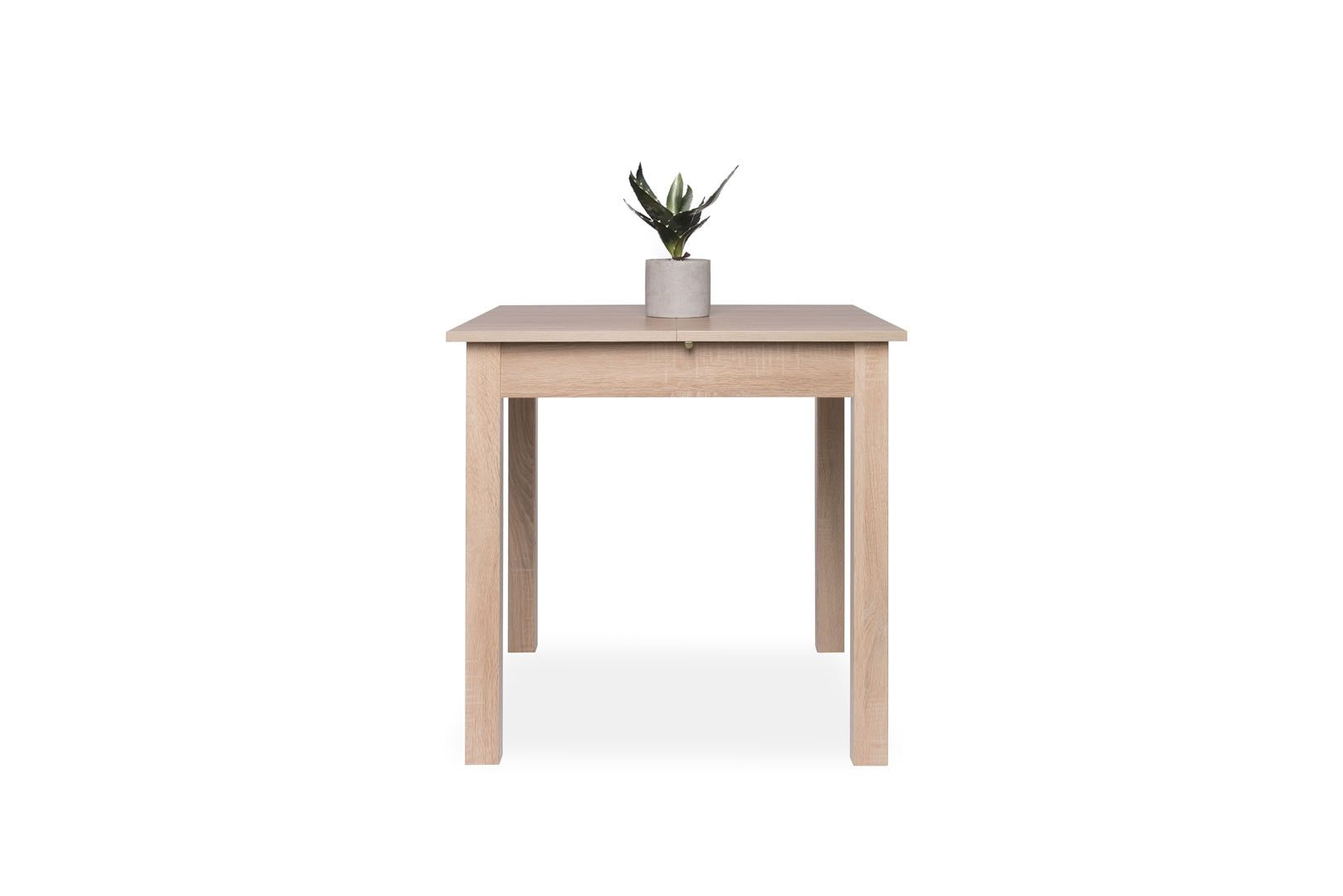 table carr e avec allonge 80 120 cm jiminy ch ne clair. Black Bedroom Furniture Sets. Home Design Ideas