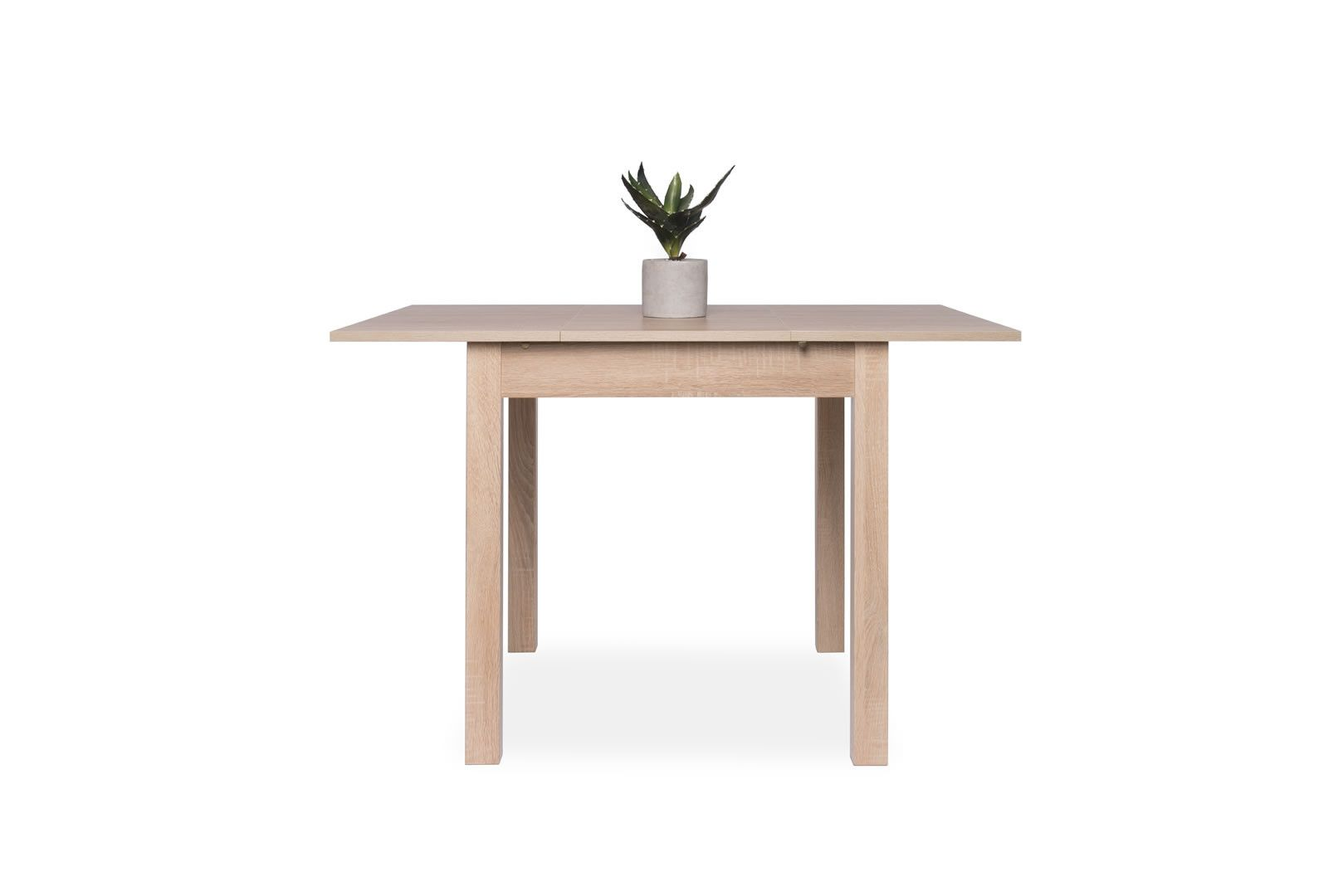 Table carr e avec allonge 80 120 cm jiminy ch ne clair - Table carree chene clair ...