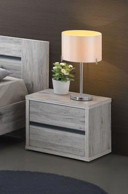 Table de chevet 1 tiroir chêne grisé Dreams
