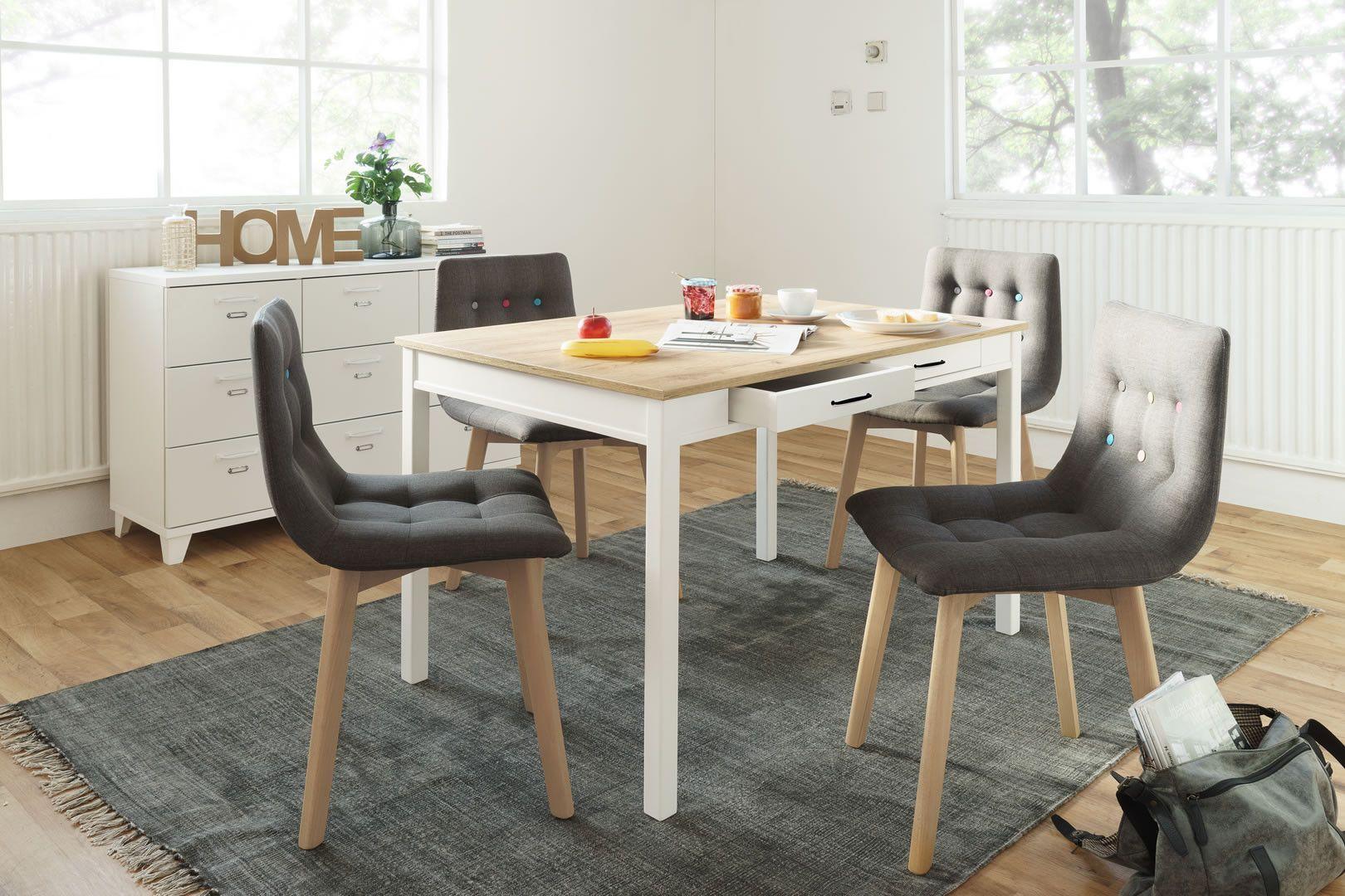 Tables de cuisine table de cuisine avec 2 tiroirs hibou trocity - Cuisine avec table ...