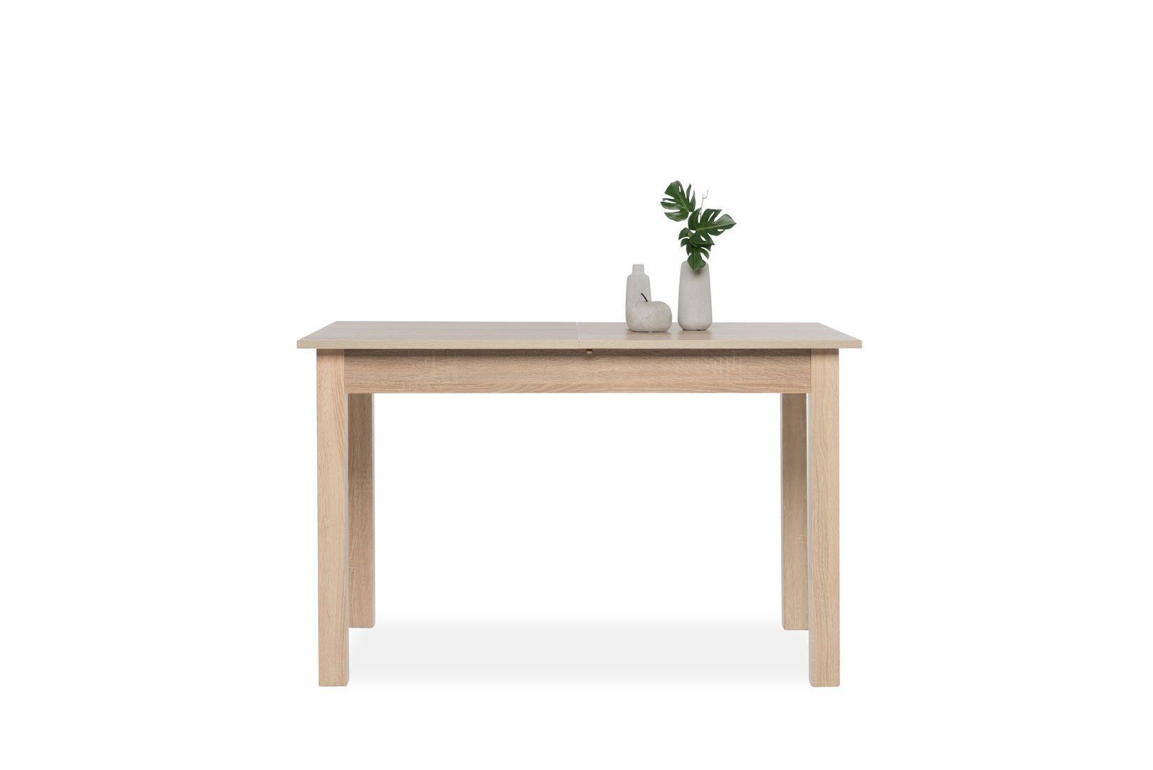 table de cuisine avec allonge 120 160 cm jiminy ch ne clair. Black Bedroom Furniture Sets. Home Design Ideas