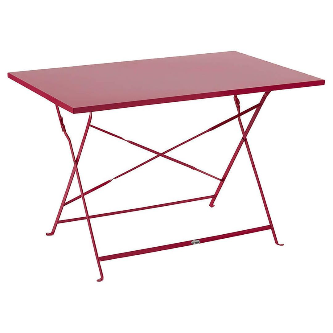 Table et chaise - Table de jardin pliante Camargue framboise ...
