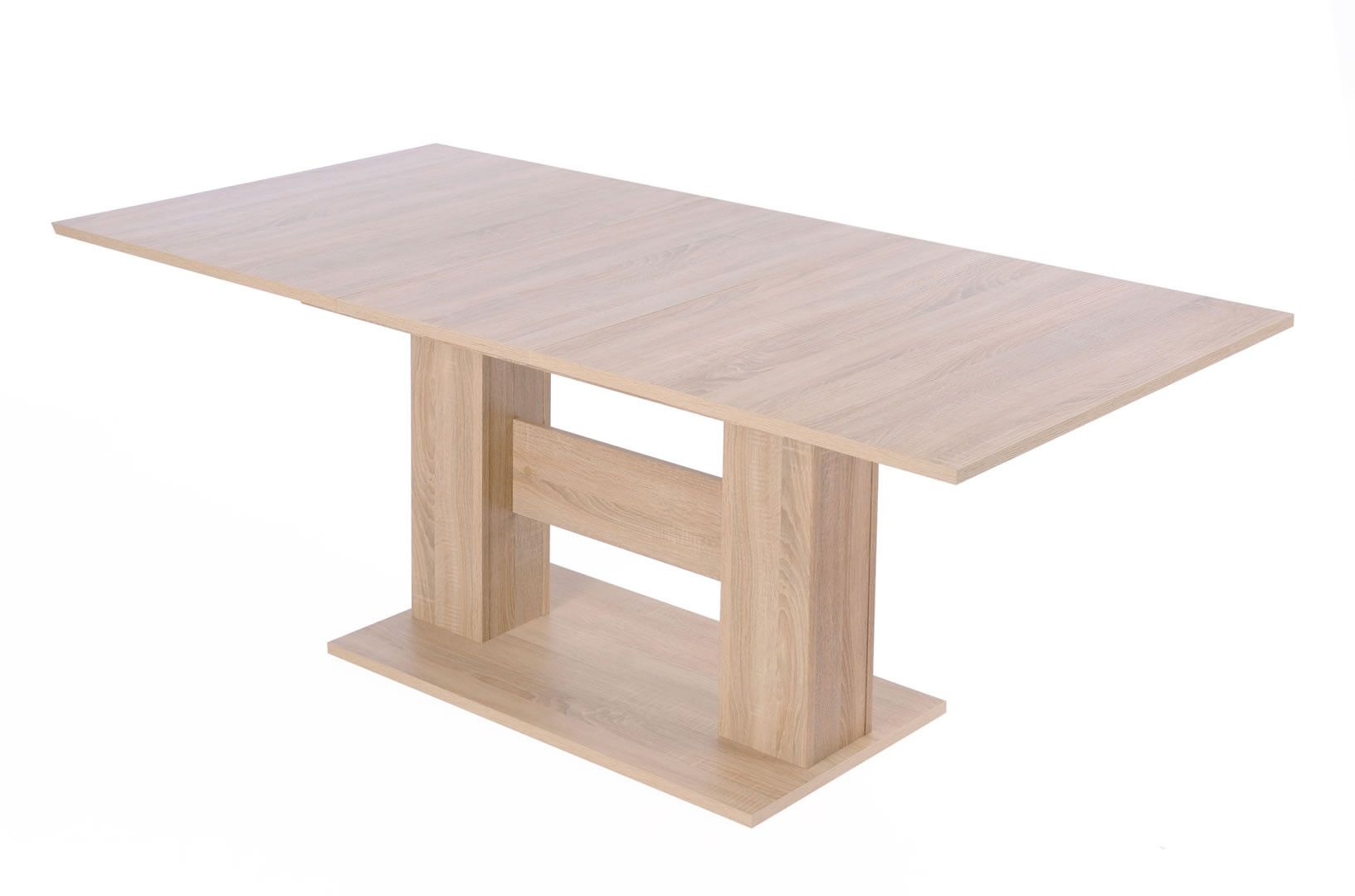 Tables rallonge table de salle manger avec allonge 140 180 cm dingo trocity - Table 140 cm avec rallonge ...