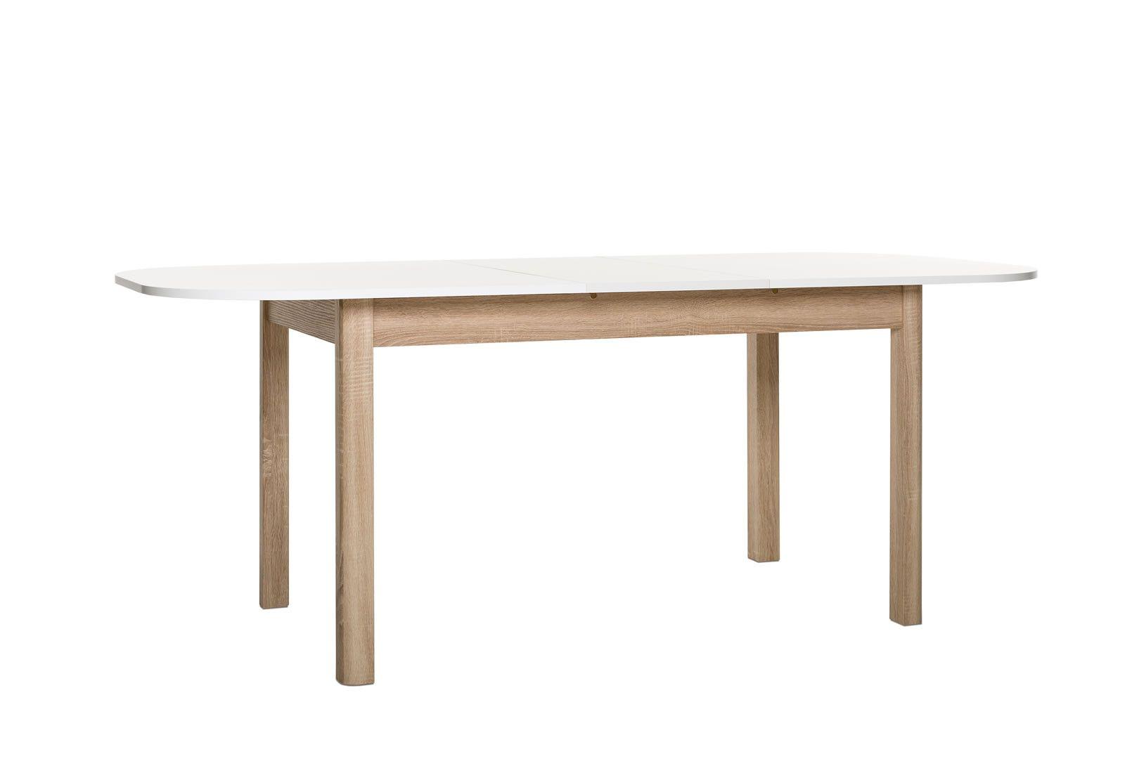 Made In Europe Table De Salle A Manger Ou Cuisne Extensible Bois Et Blanc Lounge