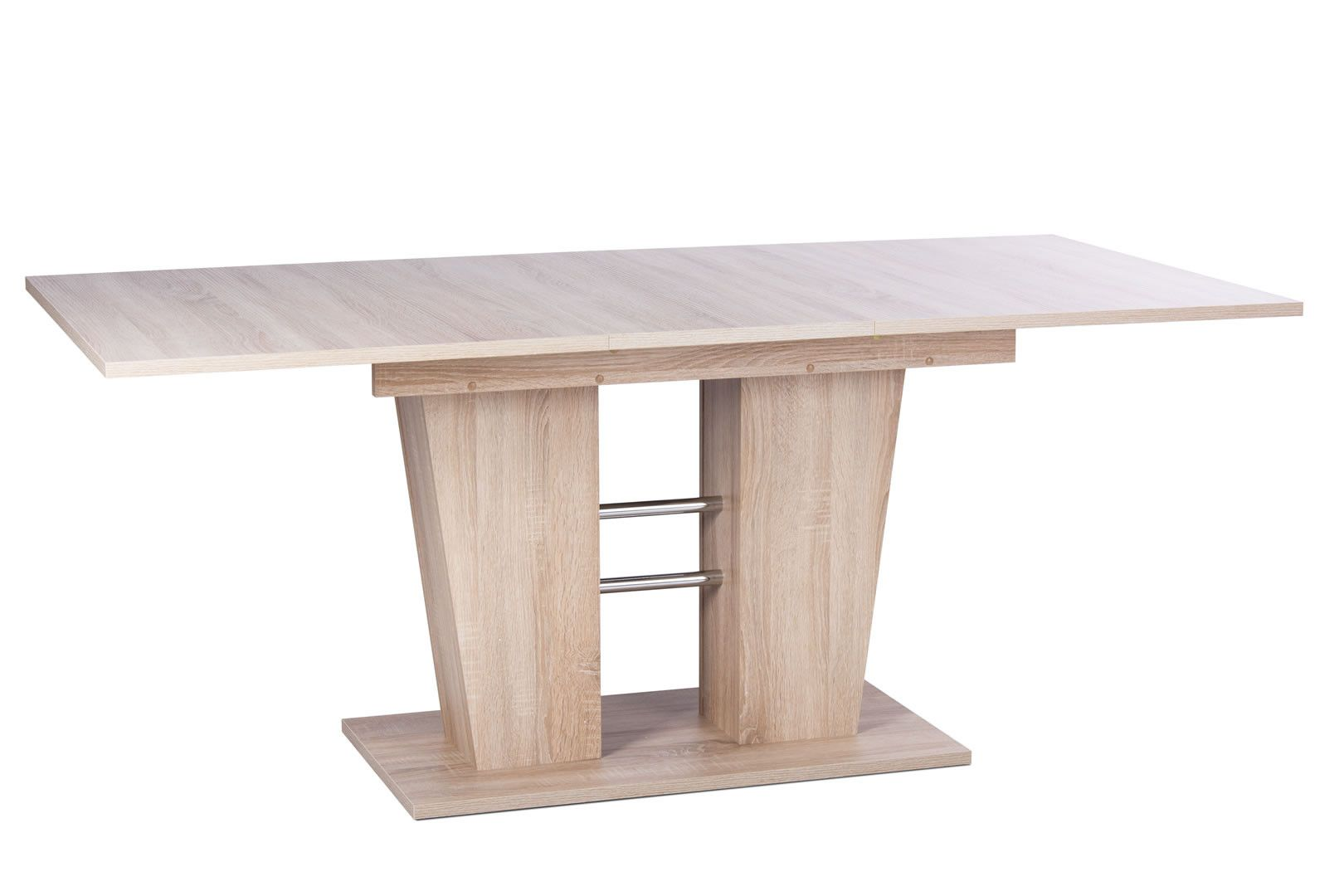 table de salle manger avec allonge 140 180 cm casey ch ne clair. Black Bedroom Furniture Sets. Home Design Ideas