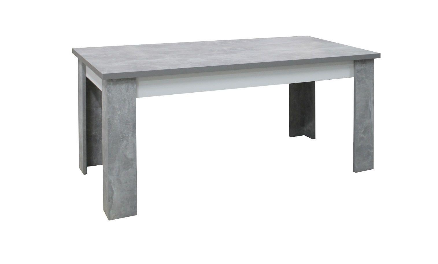 table de salle manger de 160 cm neon blanc et effet bton
