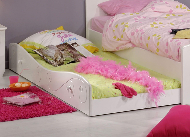 lits enfants tiroir lit 90 x 190 cm aur ane blanc meg ve trocity. Black Bedroom Furniture Sets. Home Design Ideas