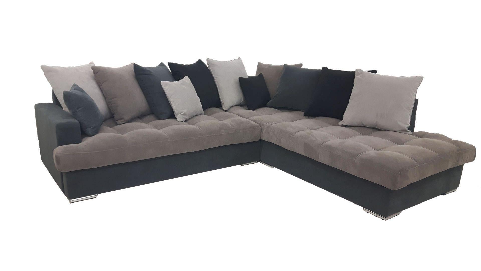 Canapé d angle droit Linda gris et noir