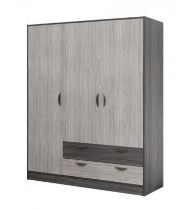 armoires enfant armoire au style industriel de 4 portes. Black Bedroom Furniture Sets. Home Design Ideas