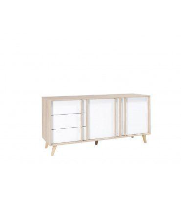 salle manger design salle manger lisieux ch ne sonoma blanc trocity. Black Bedroom Furniture Sets. Home Design Ideas