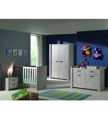 chevet 2 tiroirs nelia ch ne. Black Bedroom Furniture Sets. Home Design Ideas