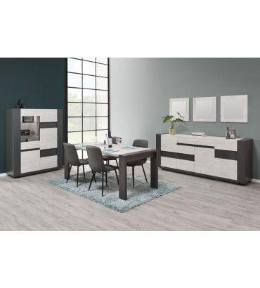tables basses table basse contemporaine ch ne blanchi et graphite kemi trocity. Black Bedroom Furniture Sets. Home Design Ideas