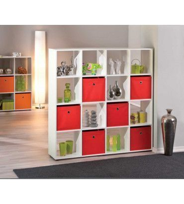 biblioth ques s parateur de pi ce ca s 10 casiers trocity. Black Bedroom Furniture Sets. Home Design Ideas