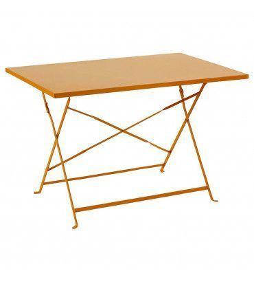 Table et chaise - Table de jardin pliante Camargue framboise ...